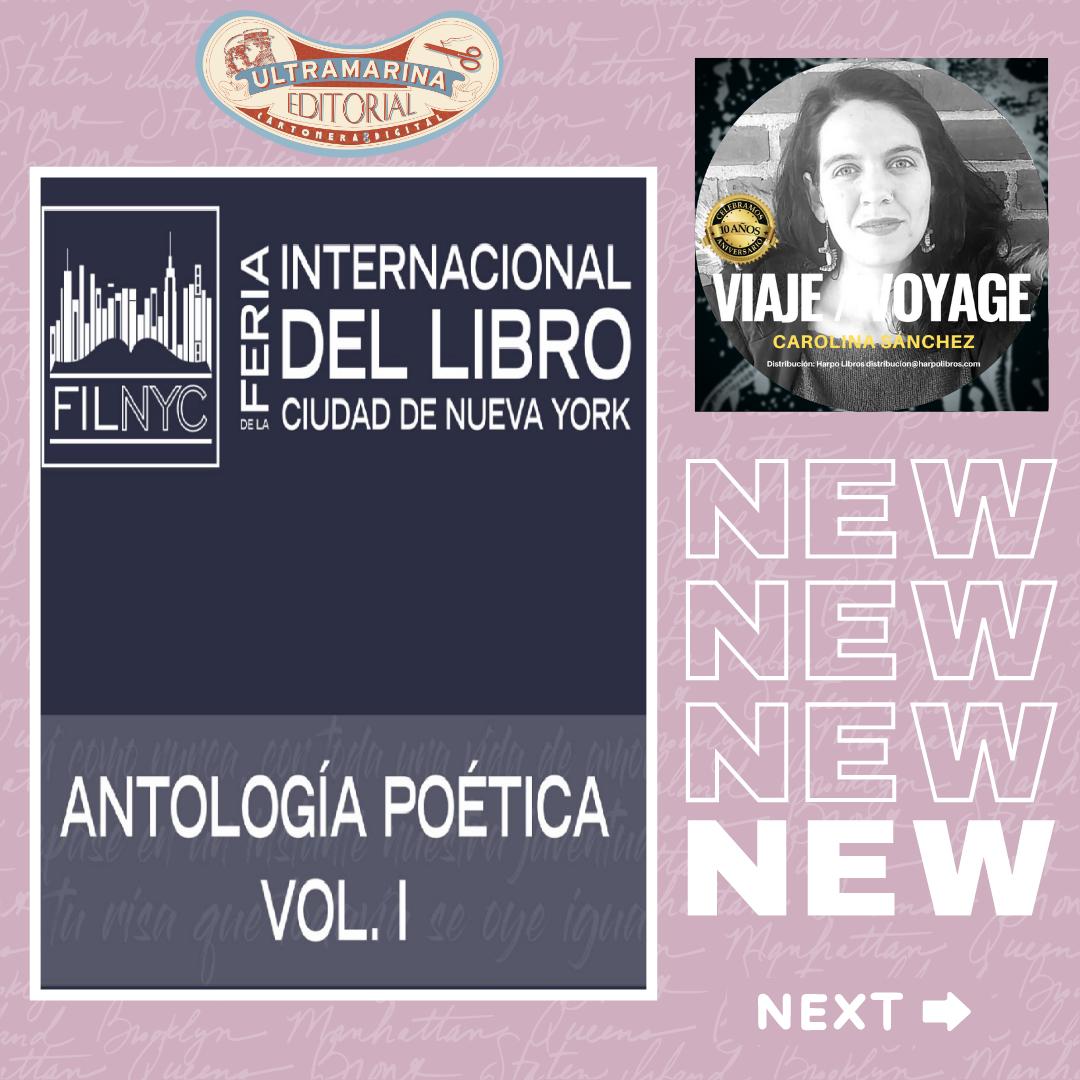 Carolina Sánchez en «Antología Poética Volumen 1» desde Nueva York #vivalapoesía