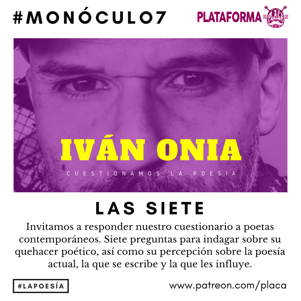 Monóculo 7 – Iván Onia (Sevilla). Cuestionamos la poesía #vivalapoesia