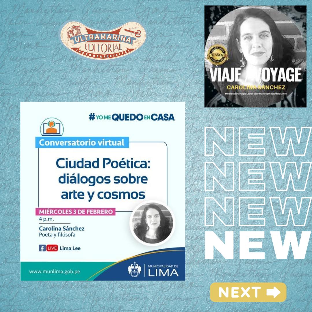 Conversatorio virtual: Ciudad Poética: diálogos sobre #arte y #cosmos, con Carolina Sánchez