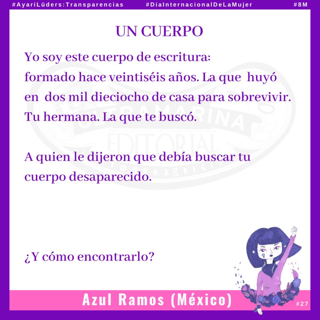 «Un Cuerpo» de Azul Ramos #AyariLüders:Transparencias