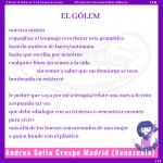 «El Gólem» por Andrea Sofía Crespo #AyariLüders: Transparencias