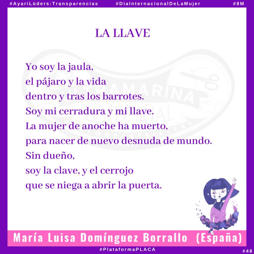 «La Llave» por María Luisa Domínguez Borrallo #AyariLüders:Transparencias