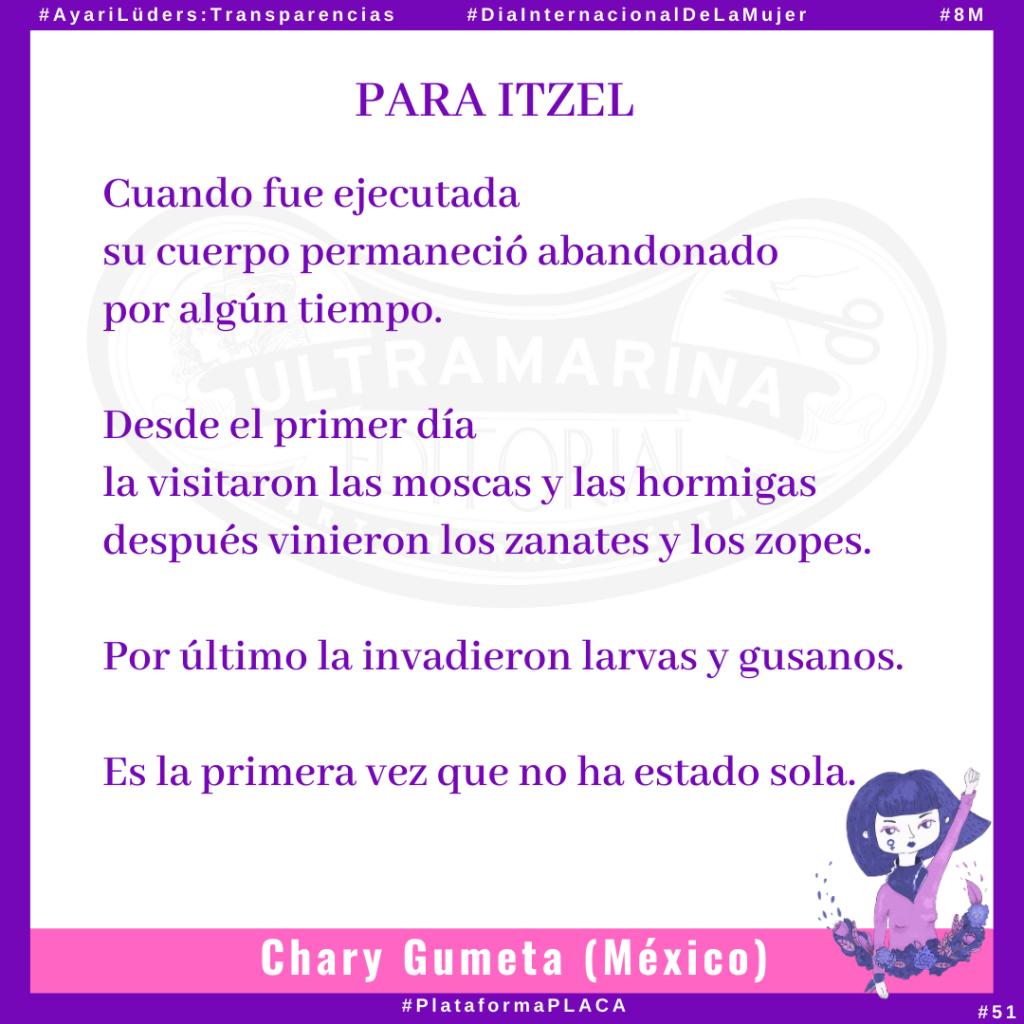 «Para Itzel» por Chary Gumeta #AyariLüders:Transparencias