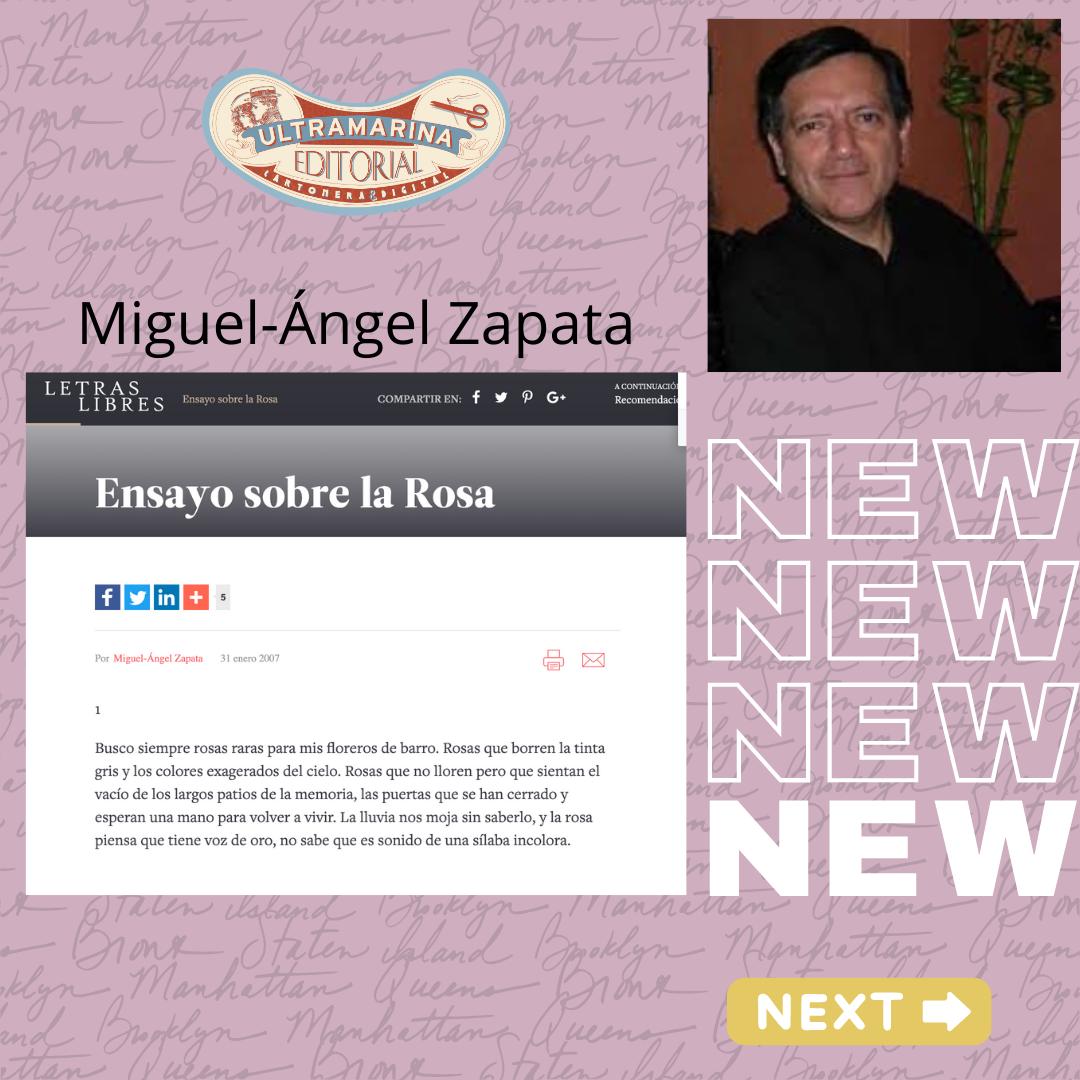 Aparece en la revista mexicana 'Letras libres', el Ensayo sobre la Rosa, de #MiguelÁngelZapata