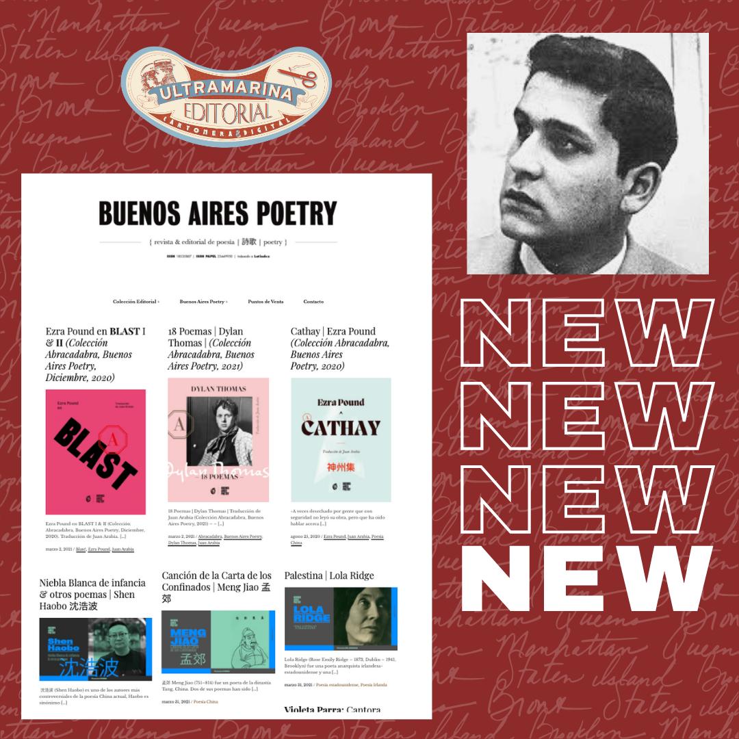 Miguel Ángel Zapata publica selección poética de Javier Heraud, para Buenos Aires Poetry