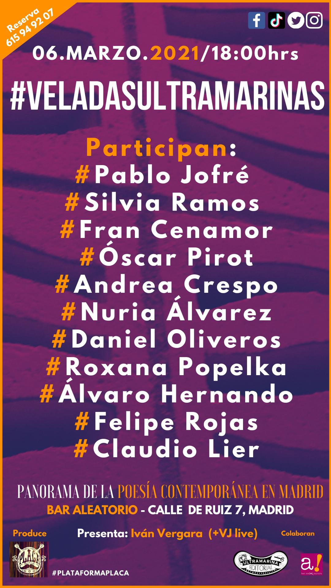 1ª VeladaUltramarina en Madrid del 2021. Novena temporada Vs. F**** Virus