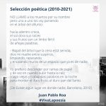 #VivaLaPoesía Juan Pablo Roa #106