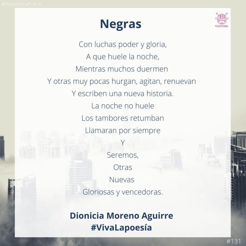 #VivaLaPoesía Dionicia Moreno Aguirre #131