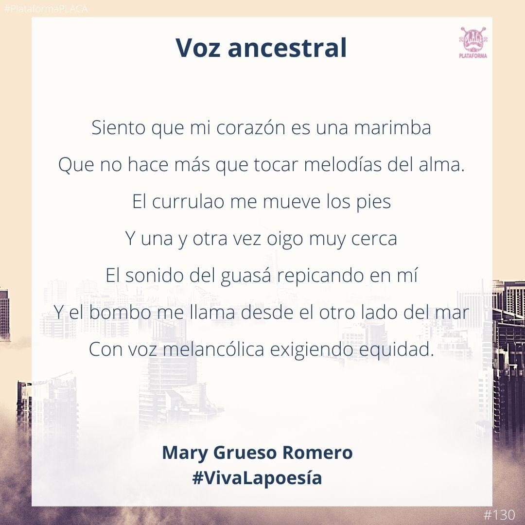 #VivaLaPoesía Mary Grueso Romero #130