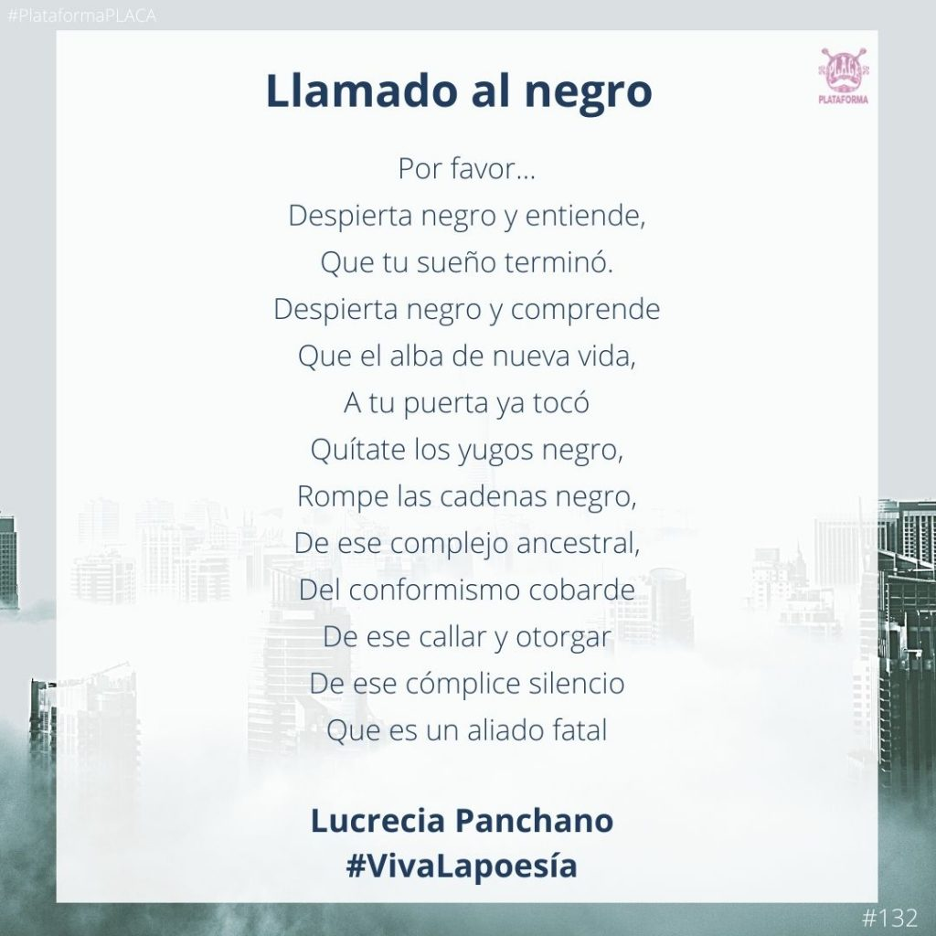 #VivaLaPoesía Lucrecia Panchano #132