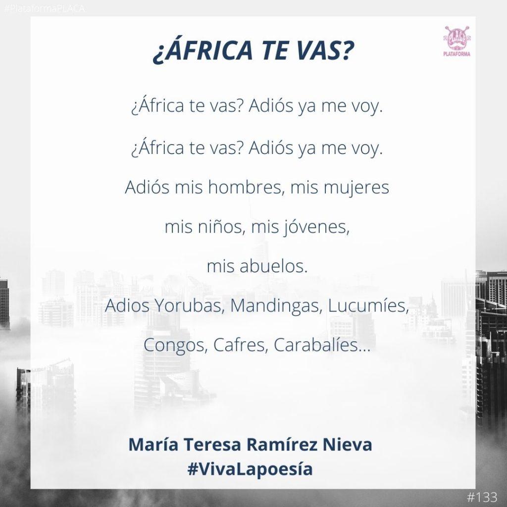 #VivaLaPoesía María Teresa Ramírez Nieva #133