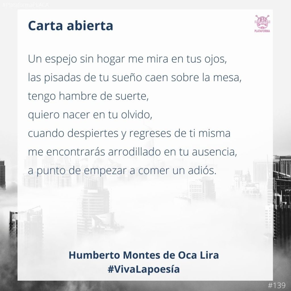 #VivaLaPoesía Humberto Montes de Oca Lira #139